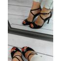 Senso 1660 czarne lakierowane sandałki