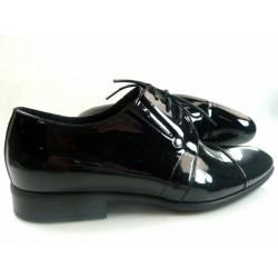 Pilpol 1155 czarne lakierowane pantofle wizytowe