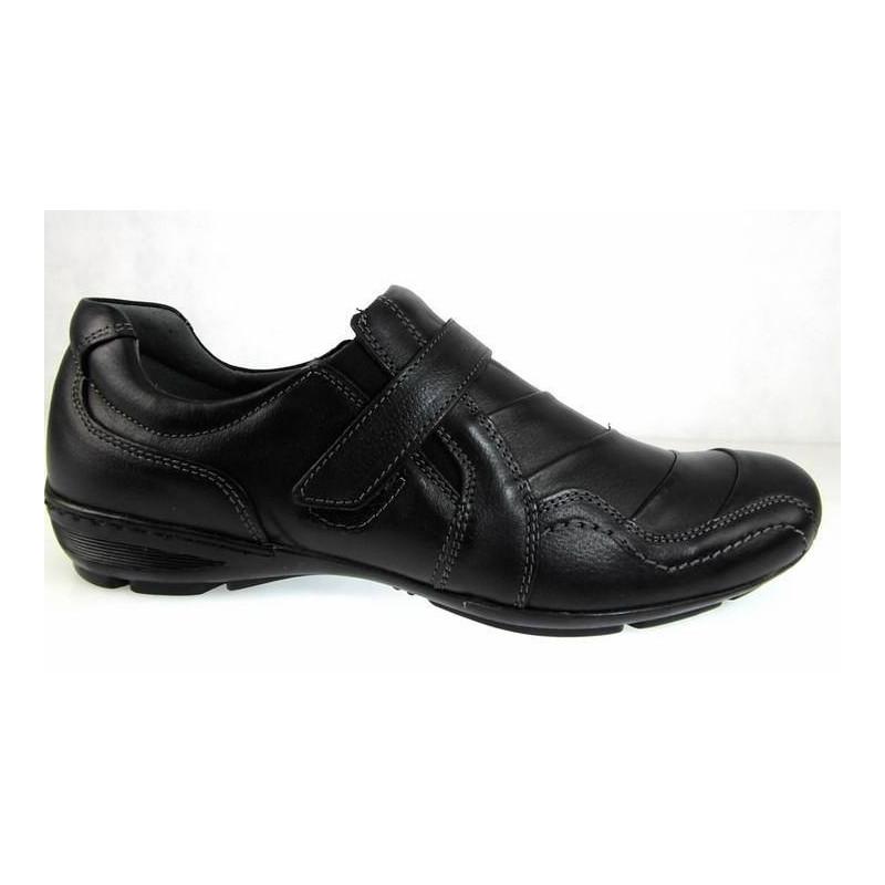 Lemar 521 czarne z rzepem  półbuty sportowe