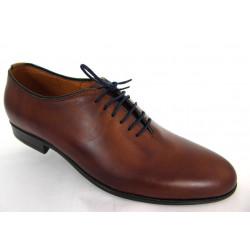 Lavaggio 1010 brązowe skórzane męskie pantofle