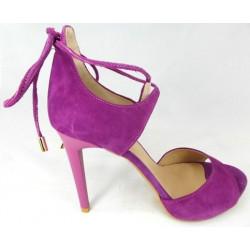 Kati 1643 czarne skórzane sandałki