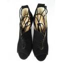 Kati 1643 fuxia skórzane sandałki
